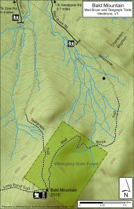 Bald Mountain Vermont North Map